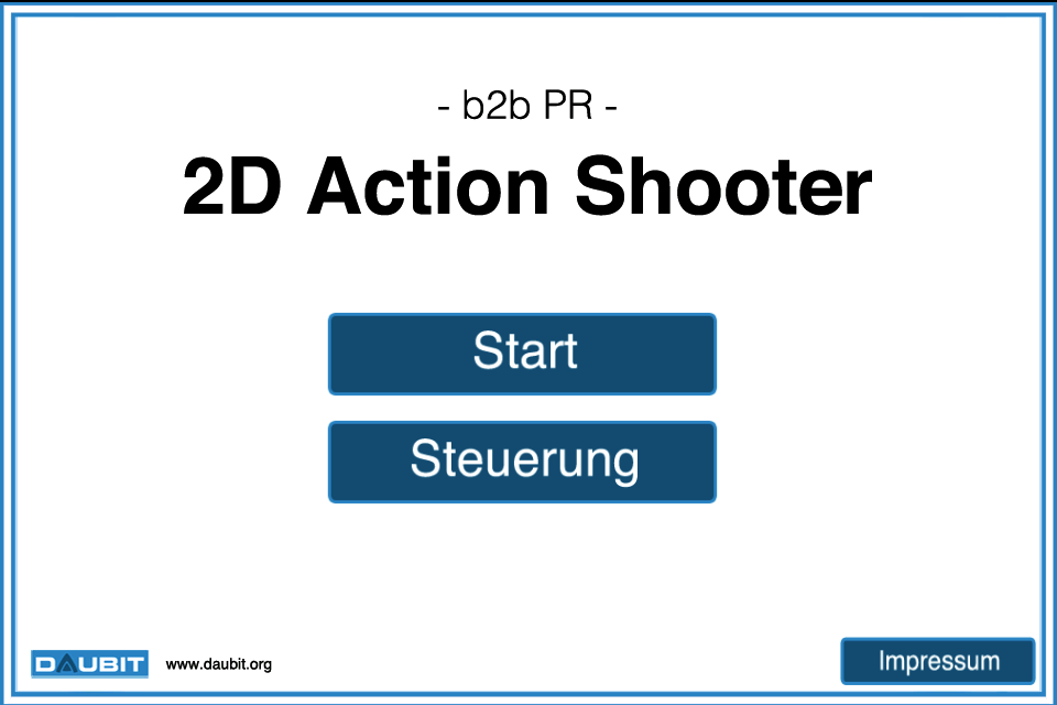 Screenshot b2b PR 2D Action Shooter